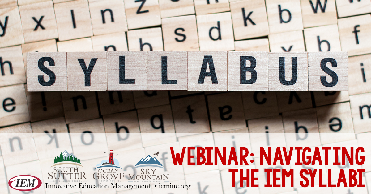 Navigating the IEM Syllabi Webinar