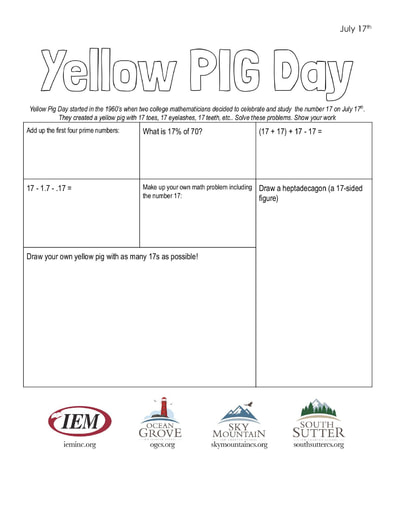 Yellow PIG Day (7/17)