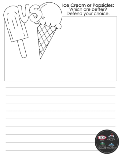 Ice cream popsicles draw and write