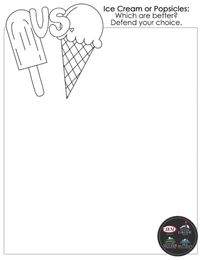 Ice cream popsicles draw