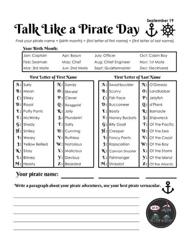 Talk Like A Pirate Day (9/19)