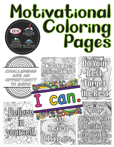 Motivational Coloring Pages Packet