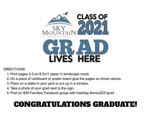 SMCS 2021 Graduate Sign