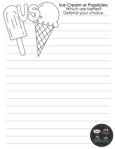 Ice cream popsicles