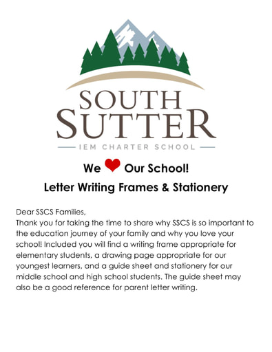 SSCS We Love Our School Letter Writing
