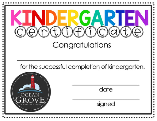 OGCS Kindergarten Completion Certificate