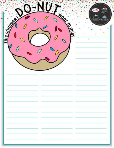 DO-NUT Summer Bucket List (DIY)