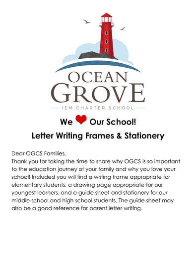 OGCS We Love Our School Letter Writing